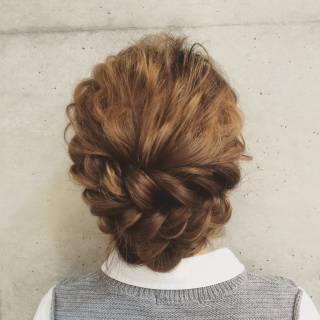 ロング 簡単ヘアアレンジ ヘアアレンジ 編み込み ヘアスタイルや髪型の写真・画像