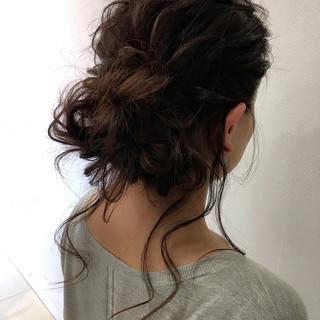 ロング 外国人風 ヘアアレンジ ブラウン ヘアスタイルや髪型の写真・画像