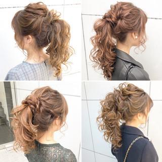 アンニュイほつれヘア ヘアアレンジ 結婚式 セミロング ヘアスタイルや髪型の写真・画像