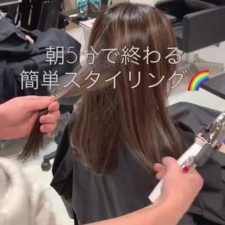 セミロング ナチュラル ハイライト 外国人風 ヘアスタイルや髪型の写真・画像