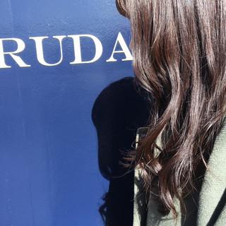 セミロング アッシュ 透明感 イルミナカラー ヘアスタイルや髪型の写真・画像