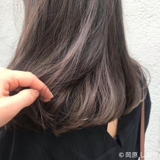 インナーカラー ブリーチ 外国人風 ブラウン ヘアスタイルや髪型の写真・画像