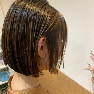 N.オイル ショートヘア 切りっぱなしボブ ミニボブ ヘアスタイルや髪型の写真・画像
