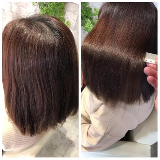 美髪 暗髪女子 ミディアム ナチュラル ヘアスタイルや髪型の写真・画像