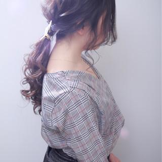 ヘアアレンジ 結婚式 ゆるふわ ポニーテール ヘアスタイルや髪型の写真・画像 ヘアスタイルや髪型の写真・画像
