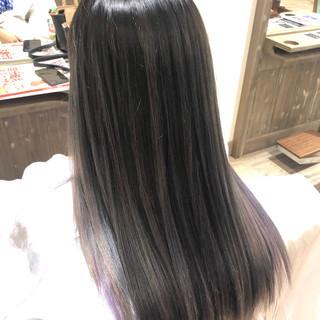 ヘアアレンジ ストリート ロング グラデーションカラー ヘアスタイルや髪型の写真・画像
