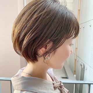 ナチュラル ショートボブ ショートヘア 大人かわいい ヘアスタイルや髪型の写真・画像