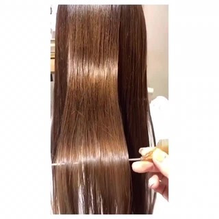 ベージュ ロング 髪質改善 ナチュラル ヘアスタイルや髪型の写真・画像