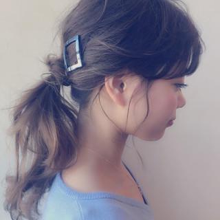 ポニーテール ロング ヘアアレンジ 簡単ヘアアレンジ ヘアスタイルや髪型の写真・画像 ヘアスタイルや髪型の写真・画像