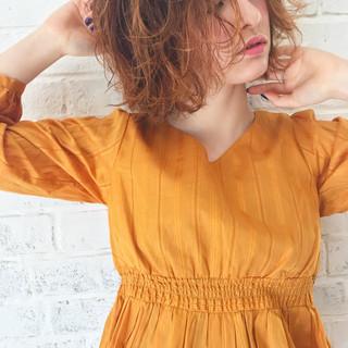 バレンタイン ヘアアレンジ ボブ フェミニン ヘアスタイルや髪型の写真・画像