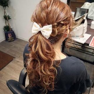 ロング ポニーテール ガーリー ヘアアレンジ ヘアスタイルや髪型の写真・画像 ヘアスタイルや髪型の写真・画像