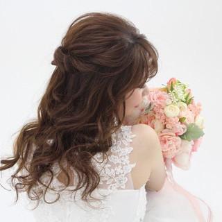 ロング 結婚式ヘアアレンジ エレガント ヘアセット ヘアスタイルや髪型の写真・画像