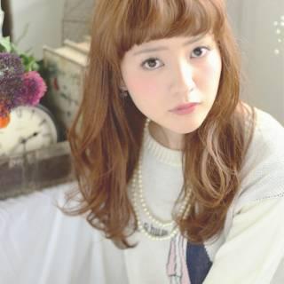 ゆるふわ モテ髪 ミディアム ナチュラル ヘアスタイルや髪型の写真・画像