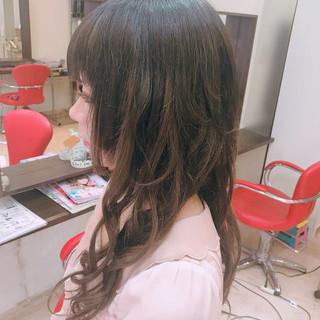 デート ロング ガーリー エクステ ヘアスタイルや髪型の写真・画像