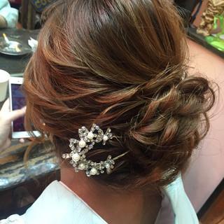 編み込み パーティ アップスタイル ロング ヘアスタイルや髪型の写真・画像 ヘアスタイルや髪型の写真・画像