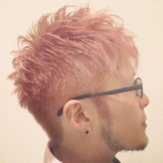 外国人風 ピンク メンズ ガーリー ヘアスタイルや髪型の写真・画像 ヘアスタイルや髪型の写真・画像