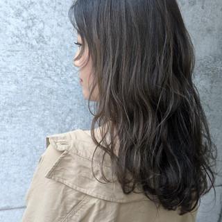ヘアアレンジ ロング ナチュラル イルミナカラー ヘアスタイルや髪型の写真・画像