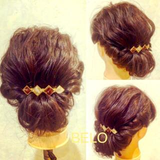 ミディアム ギブソンタック 簡単ヘアアレンジ ゆるふわ ヘアスタイルや髪型の写真・画像 ヘアスタイルや髪型の写真・画像