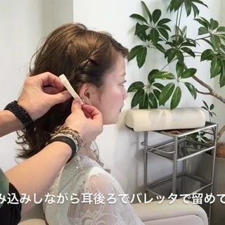 アウトドア ナチュラル リラックス 簡単ヘアアレンジ ヘアスタイルや髪型の写真・画像