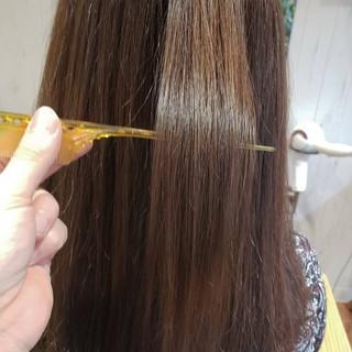ストレート 髪質改善トリートメント うる艶カラー 艶髪 ヘアスタイルや髪型の写真・画像