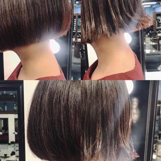 黒髪 ボブ 色気 ナチュラル ヘアスタイルや髪型の写真・画像