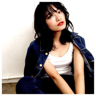 ヘアアレンジ ストリート 暗髪 大人女子 ヘアスタイルや髪型の写真・画像