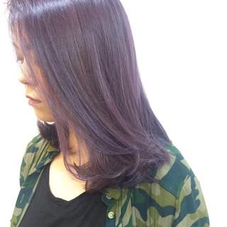 ミディアム ブリーチ ロブ ダブルカラー ヘアスタイルや髪型の写真・画像