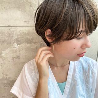 パーマ ナチュラル ショート デジタルパーマ ヘアスタイルや髪型の写真・画像