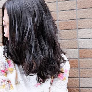 大人女子 セミロング ナチュラル 外国人風カラー ヘアスタイルや髪型の写真・画像