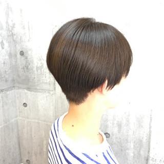 白髪染め 透明感 外国人風カラー ショートボブ ヘアスタイルや髪型の写真・画像