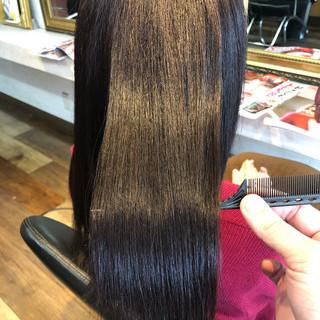 美髪 縮毛矯正 髪質改善 ナチュラル ヘアスタイルや髪型の写真・画像