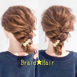 編み込み ロング ヘアアレンジ アップスタイル ヘアスタイルや髪型の写真・画像