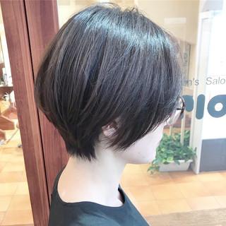 コンサバ 横顔美人 ショート ハンサムショート ヘアスタイルや髪型の写真・画像