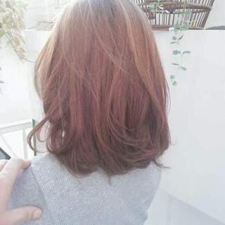 外国人風カラー フェミニン ストリート ミディアム ヘアスタイルや髪型の写真・画像