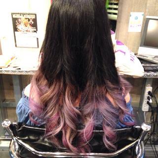 シルバー ガーリー ピンク 外国人風 ヘアスタイルや髪型の写真・画像