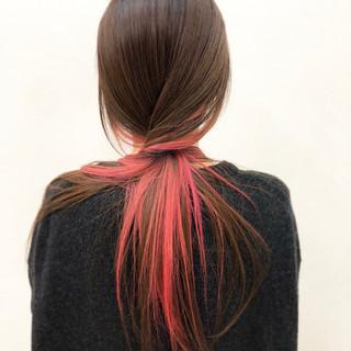 ロング ストレート ナチュラル インナーカラー ヘアスタイルや髪型の写真・画像 | YSO / 電髪倶楽部street