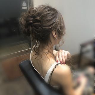 ミディアム 成人式 ヘアアレンジ アップ ヘアスタイルや髪型の写真・画像