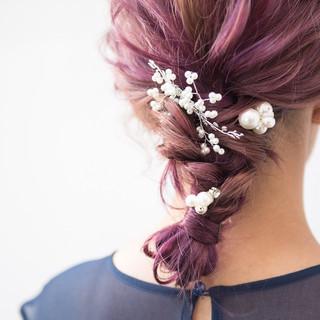 結婚式 アンニュイほつれヘア エレガント 成人式 ヘアスタイルや髪型の写真・画像
