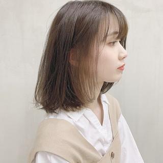 透明感カラー 外国人風カラー ボブ インナーカラー ヘアスタイルや髪型の写真・画像