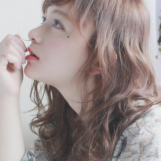 デート ミディアム アンニュイ 女子会 ヘアスタイルや髪型の写真・画像