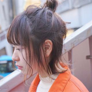ボブ スポーツ アウトドア ヘアアレンジ ヘアスタイルや髪型の写真・画像