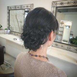 ヘアアレンジ 暗髪 フェミニン 大人女子 ヘアスタイルや髪型の写真・画像