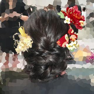 ヘアアレンジ 成人式 着物 アップスタイル ヘアスタイルや髪型の写真・画像 ヘアスタイルや髪型の写真・画像