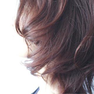 ミディアム ナチュラル ラベンダー ゆるふわ ヘアスタイルや髪型の写真・画像