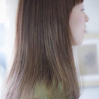 セミロング ラベンダーピンク ラベンダーグレージュ ラベンダーアッシュ ヘアスタイルや髪型の写真・画像