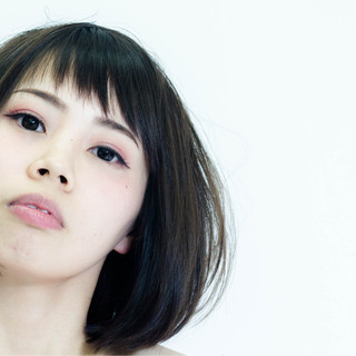 大人女子 モード 透明感 小顔 ヘアスタイルや髪型の写真・画像