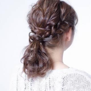 ナチュラル 簡単ヘアアレンジ ゆるふわ ショート ヘアスタイルや髪型の写真・画像 ヘアスタイルや髪型の写真・画像