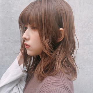 大人かわいい ミディアム ゆるふわ デジタルパーマ ヘアスタイルや髪型の写真・画像