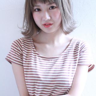 グラデーションカラー 外国人風 大人かわいい ボブ ヘアスタイルや髪型の写真・画像