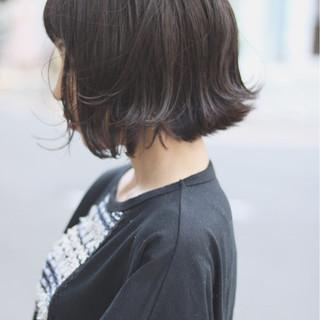 イルミナカラー ボブ デート ナチュラル ヘアスタイルや髪型の写真・画像